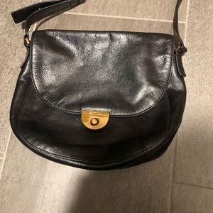 Black Fossil cross body purse